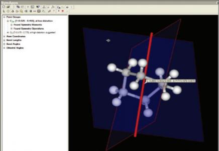 ChemWindow SymApps 3D Structure